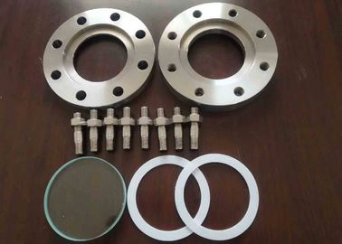 China Grade 5 Titanium Forging Blind Pipe Flanges , Reducing Blind Flange Petrochemical factory
